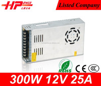 Hot selling high quality constant voltage single output type smp AC DC 300w 25 ampere 12v led 300w power inverter