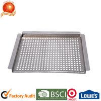 BBQ stainless steel pan vegetable basket roast pan