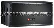 Pro stage audio dual 18 inch high end professional speaker subwoofer