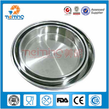40cm New design metal stainless steel round fruit serving tray /food tray