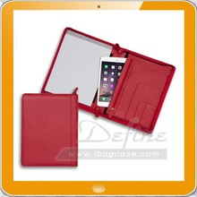 Zippered legal size custom leather padfolios with pen holder