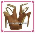 señora del alto talón zapatos sandalia venta caliente peep toe de plataforma