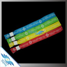 wholesale novelty gift custom fabric wristband(wrist band) for event