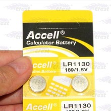Accell LR1130 1.5V Calculator battery Lithium Button cell