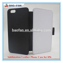 2015 New! Offer print service Top quality sublimation blank flip case for Iphone 6 case leather