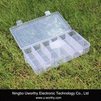 Transparent Plastic 18 Compartments Electronic Components Storage Box Case Container