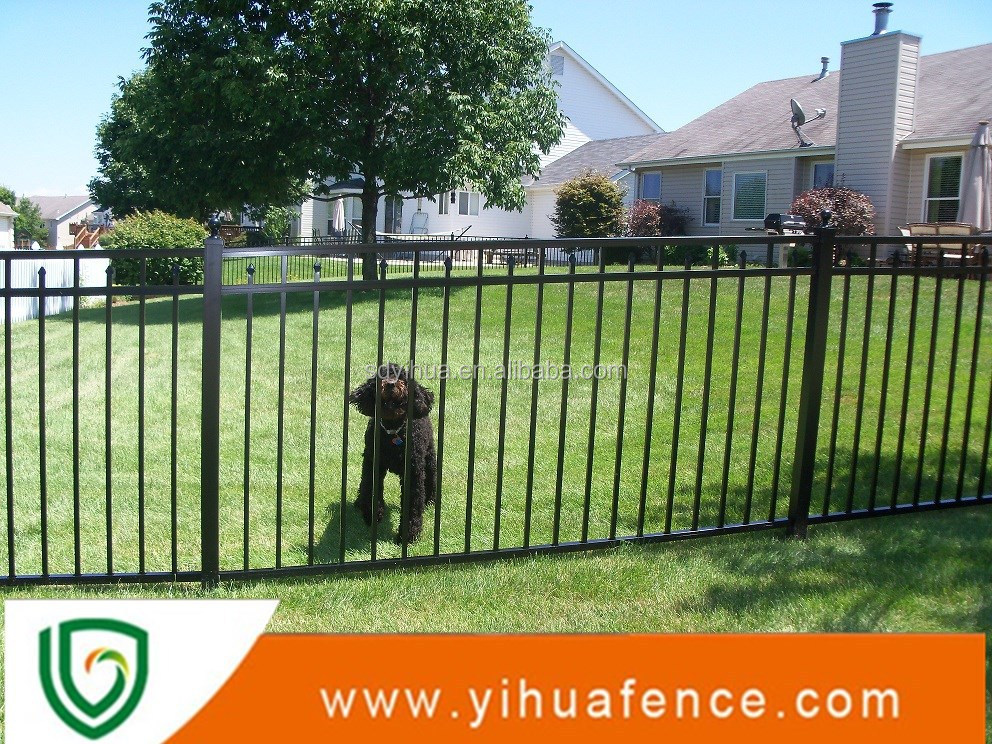 Flat top aluminum easy installation pool fence buy