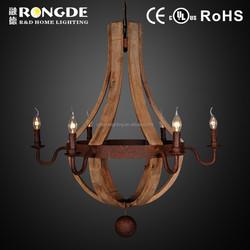 Special design round wooden chandelier