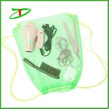Nylon drawstring mesh bag, mesh drawstring bag for shoes