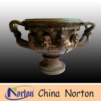 garden decorative human face antique bronze flower pot NTBF-FL073S