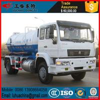 4*2 SINO HOWO 8000Liter light sewage suction truck