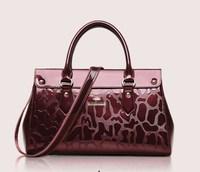 China best sale Shiny PU women Bag, Popular Ladies tote bag, Mattalic PU handbag