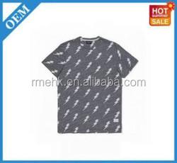 with dot 100% cotton shirts plain t-shirt tee stripe print T shirts