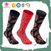 Custom wholesale 3 pairs paisley sublimation printing socks for men