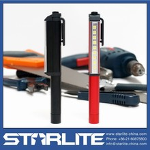 STARLITE magnet pen clip and end 180 degree Rotating clip led pen light