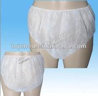 Nonwoven disposable underwear/boxers/briefs for men
