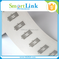 cheap programmable rfid uhf blank label/sticker tag,impinj M4 adhesive inlay for supply chian and logistics