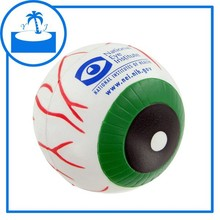 promotional gift imprint logo custom PU Eye Ball Stress Toy