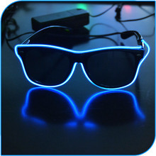 2015 New Product Party Favor Sunglasses Operated By 2pcs AA Battery Sunglasses