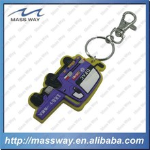 Injection promotional custom 3D car shape soft PVC rubber key chain