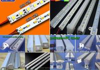DC5V DC12V 24V 5m 10pcs 0.5m 7020 36 leds al rigid hard led bar strip warm white light 12v dc