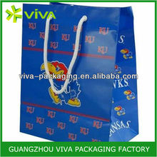 Kansas Jayhawks Royal wax coated paper bag food