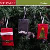 christmas holiday santa suit design hanging felt gift card holder