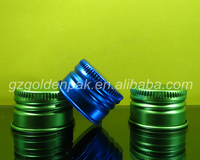 aluminum water bottle cap metal screw caps,colorful screen printing aluminum screw cap