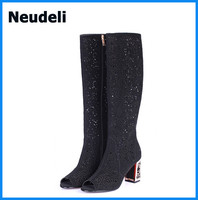 Black&Blue&White Color Women High Heels Shoes with Wholesale Price