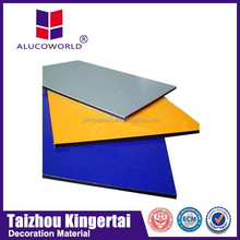 Dubai Alucoworld pvdf aluminum composite panels acp walls panels for indoor/outdoor usage