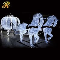 Wholesale led horse carriage garden decoration