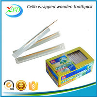 2015 hot sale cello wrapped wooden toothpicks
