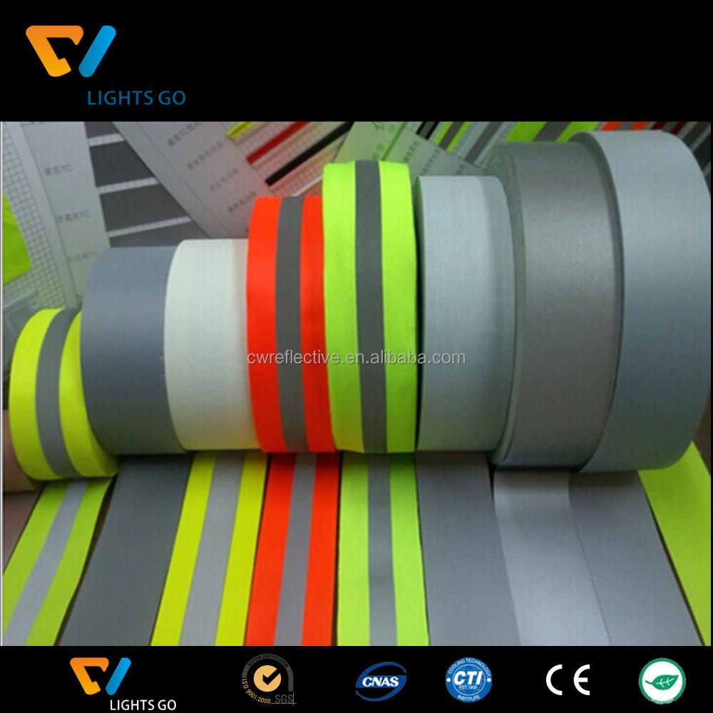 alta luce verde lime velcro strisce riflettenti riflettente bracciali elastici