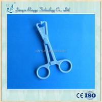 Disposable surgical sponge holder forceps