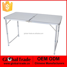 4ft Adjustable Folding Lightweight aluminum Table outdoor With Portable Carrying Handle New 450111