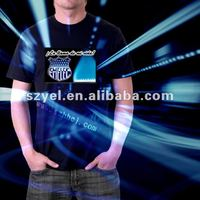 electroluminescent panel put in equalizer t-shrit
