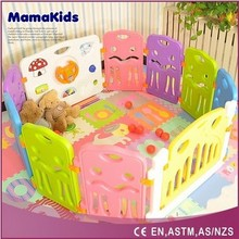 mamakids Colorful safety plastic baby playpen, baby play yard, inflatable play yard