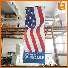 Outdoor double sides printed hanging pvc banner with pole pockets and eyelets