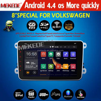 Android 4.4 car radio for VW Car DVD GPS Navi 1.6G CPU RAM GOLF 6 Polo Bora JETTA MK4 PASSAT B6 Tiguan SKODA OCTAVIA Fabia