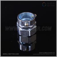 Hot Selling Zinc Alloy End Style Union Box Connector for Flexible Conduit Tubing