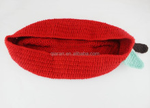 Newbornw Red Apple Pod Cocoon Crochet Knit Baby Sleeping Bag Great Photography Photo Props Shower Gift