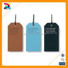 China custom cheap price clothing hang tag