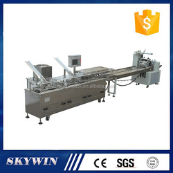 Full automatic one lane 2+1 biscuit cream sandwich connect packing machine