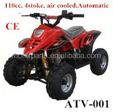Electric start 110cc 4 stoke air cooled Automatic atv 4x4 made in China