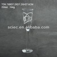 transparent glass goblet