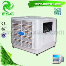 Window industiral evaporative air cooler dust control system