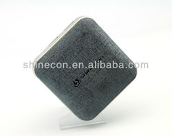 Hot selling 2 USB 2.1A output leather Cover 10400mah mobile Power Bank