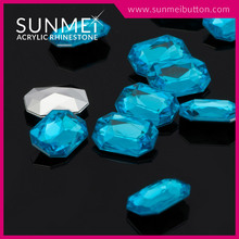 Sky Blue Color Octagon Rhinestone Point Back Assorted