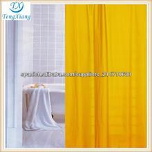 amarillo cortina de ducha de la tela