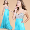 EV-H046 A-line Crystal Sequin V-neck Long Evening Formal Dress 2015